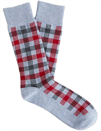 Double Check Cotton Sock