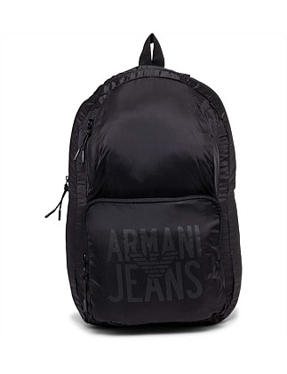 Nylon Packable Backpack. Black  Green  Grey  Red. Armani Jeans f27671017c456