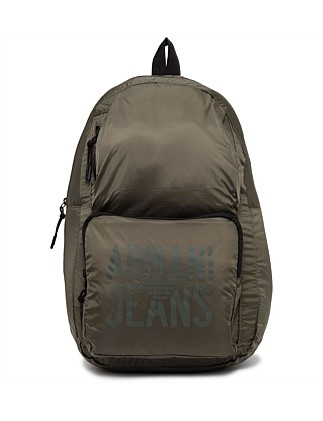 Nylon Packable Backpack. Green  Grey. Armani Jeans d059590fef7cd