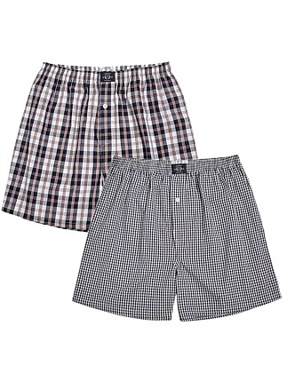 Mens 2pack Woven Boxer
