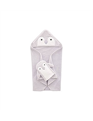 Pipp Novelty Hooded Towel & Mit Set