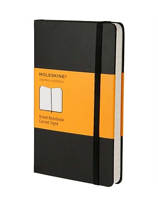 Classic Hardcover Ruled Notebook Large