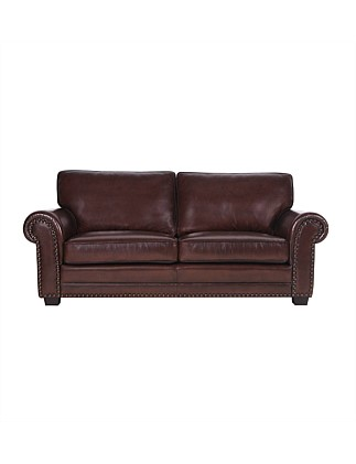 Marlin' 3 Seater Sofa in Antica Burgundy Leather