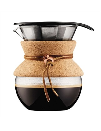 Pour Over Coffee Maker With Permanent Filter 4 Cup