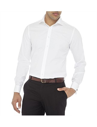 Luxe Poplin Double Cuff Slim Fit Shirt