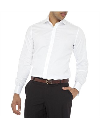 Madison Semi Solid Double Cuff Slim Fit Shirt