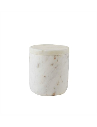Marble Cotton Ball Canister