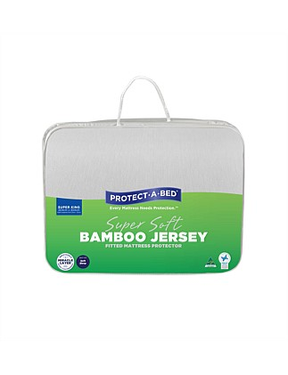 Bamboo Jersey Fitted Mattress Protector Super King