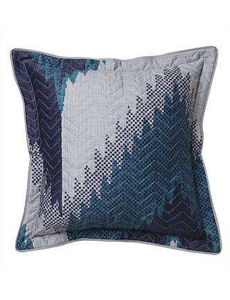 FLAMESTITCH QUILTED SQUARE CUSHION