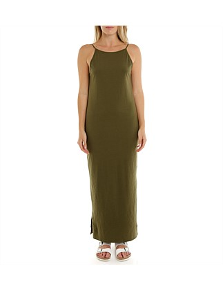 Illusion Scoop Maxi Dress