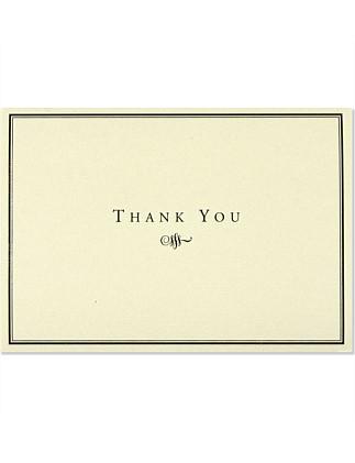 5bfb01877a630b 14 Pack Black   Cream Thankyou Cards