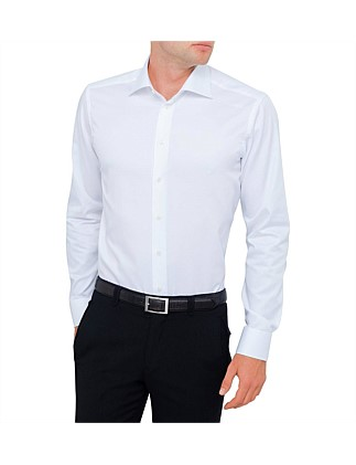 Textured Plain Shirt Slim Fit