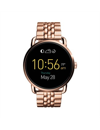 Q Wander Touchscreen Rose Gold-Tone Stainless Smartwatch