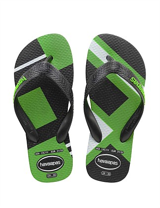 ba180c77f71964 Kids Trend Black Neon Green Special Offer. Havaianas