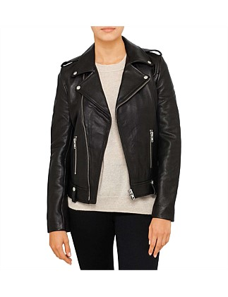 Minimalist Biker Jacket (Pebbled)