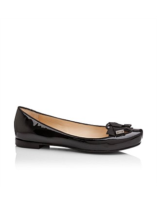 Chisel Toe Patent Ballet W Bow