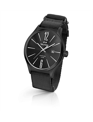 Slim Line, 45mm, 3 Hands, Black Nato