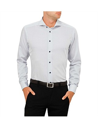 Spot Print Slim Fit Shirt