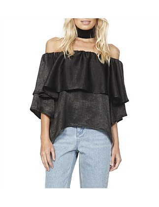 Black Magic Off Shoulder Tunic