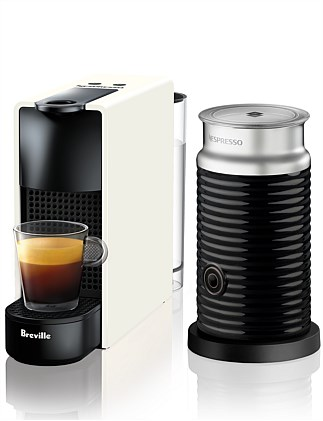 NESPRESSO BEC250WHT Essenza Mini Bundle Coffee Machine