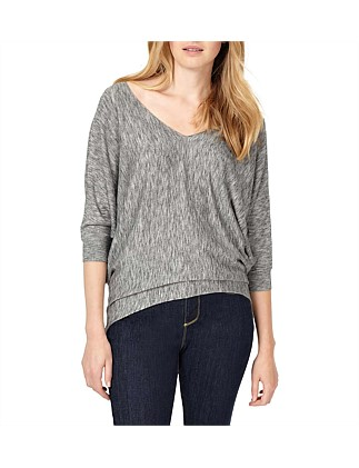 0039b38818 Becca Space Dye V Neck Knit DJ On Sale
