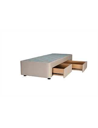 Spacesaver Oatmeal King Single Base Right Drawers