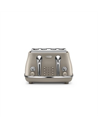Icona Elements 4 Slice Toaster Beige