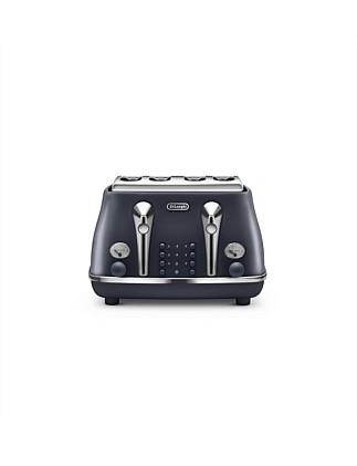 Icona Elements 4 Slice Toaster Black