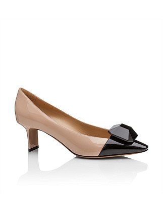 Pointed Toe Patent 65mm Heal W Caboucheron