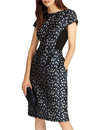 Lindsey Jacquard Dress
