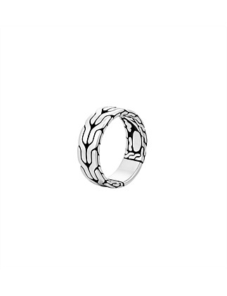 Classic Chain Silver Band Ring 8mm