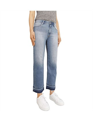 Camilla Straight Crop Jean With Drop Hem