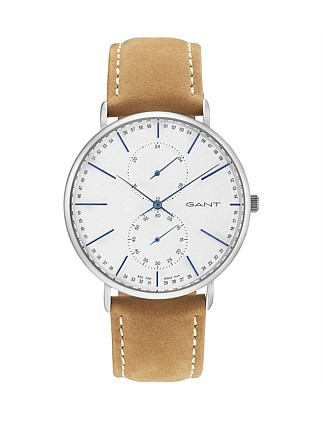 Wilmington, Steel, Silver Dial - Light Brown Leather