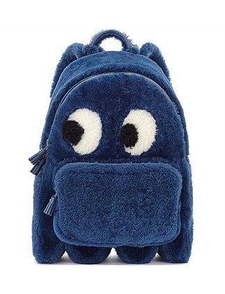 BACKPACK MINI GHOST IN BLUEBERRY SHEARLING