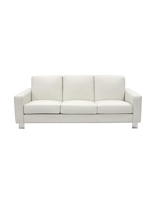 'Norton' 3 Seater Sofa in Tempus Merangue Leather