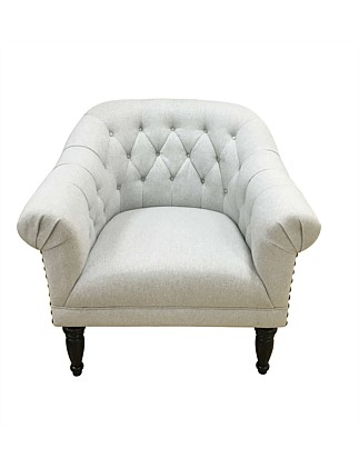'Celeste'  Chair in Oslo Frost Fabric