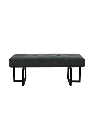'Altair' Bench Seat in Plush Charcoal Fabric