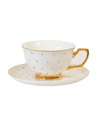 Kelly Gold Teacup & Saucer