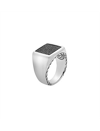 Classic Chain Silver Jawan Signet Ring
