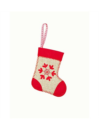 Stock-Mini Snowflake Stocking Multi