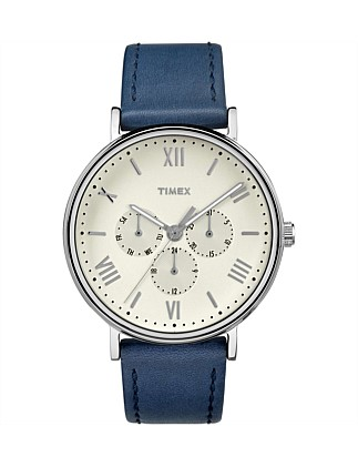 Southview 41mm Silver/Blue Leather Watch