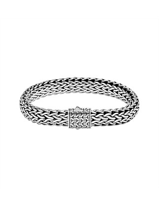 Classic Chain Silver Large Flat Chain Bracelet