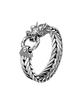 Legends Naga Silver Dragon Head Bracelet