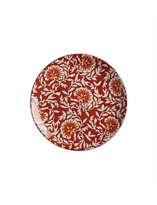 Boho Side Plate Damask Red 20cm