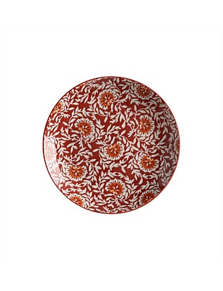 Boho Plate Damask Red 27cm