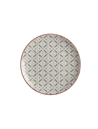 Boho Side Plate Batik Grey 20cm