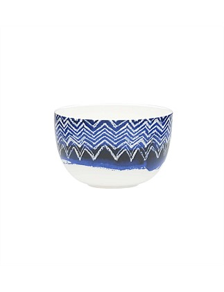 Shibori Blue Cheveron Noodle Bowl