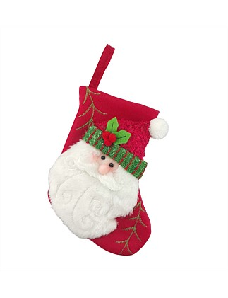 Stock-Mini Santa Stocking Red