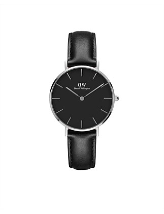 Sheffield Black Dial Petite Leather