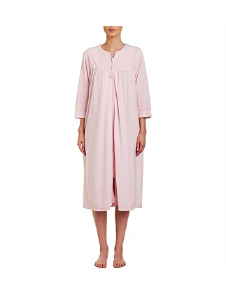 3/4 Sleeve Zip Gown